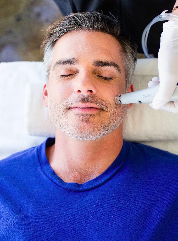 traitement peau hydrafacial pour homme excellemd esthétique